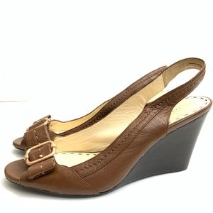 Coach Sling Back Bow Wedges 421